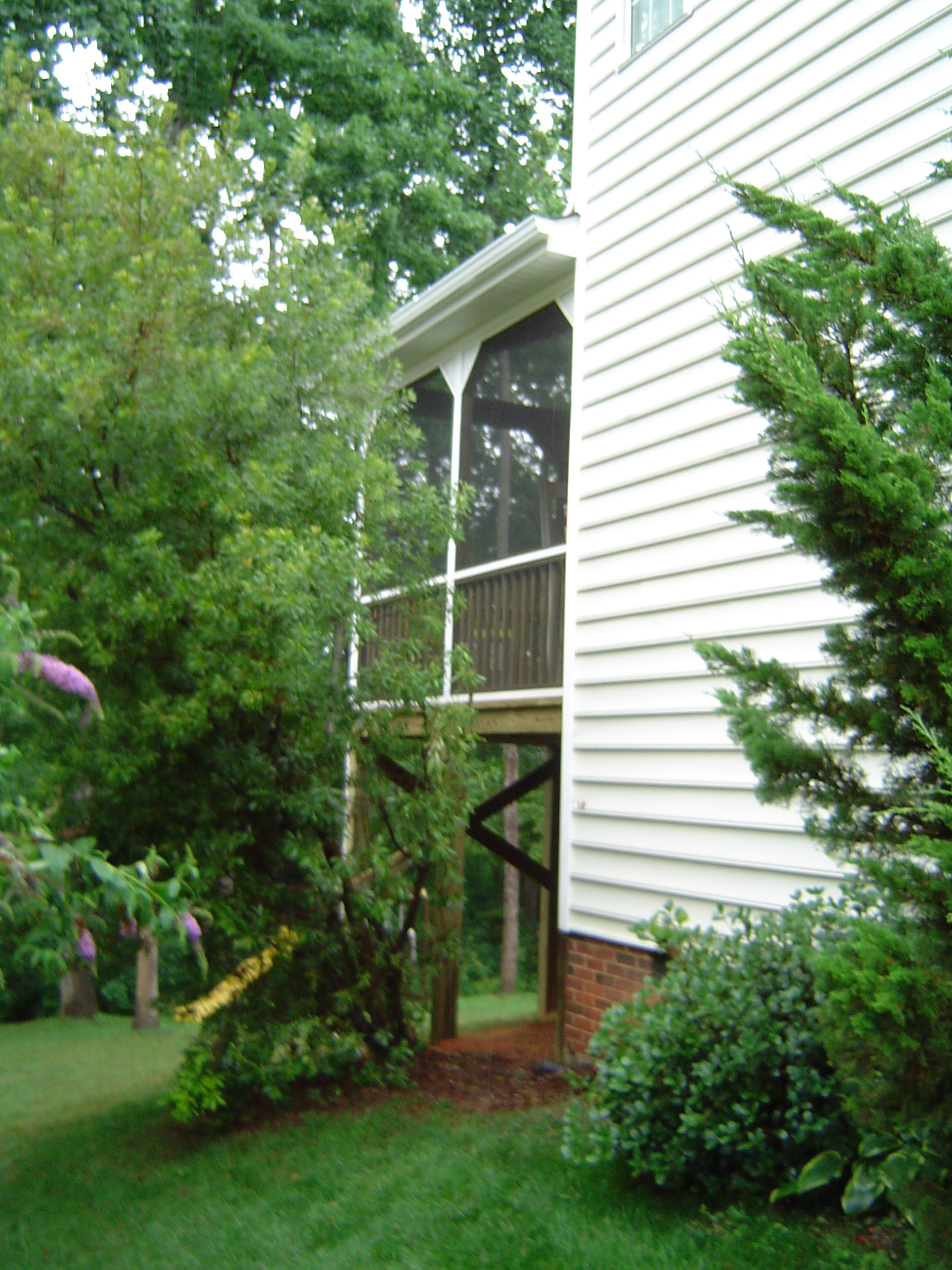 Screen Porch with Gable Roof