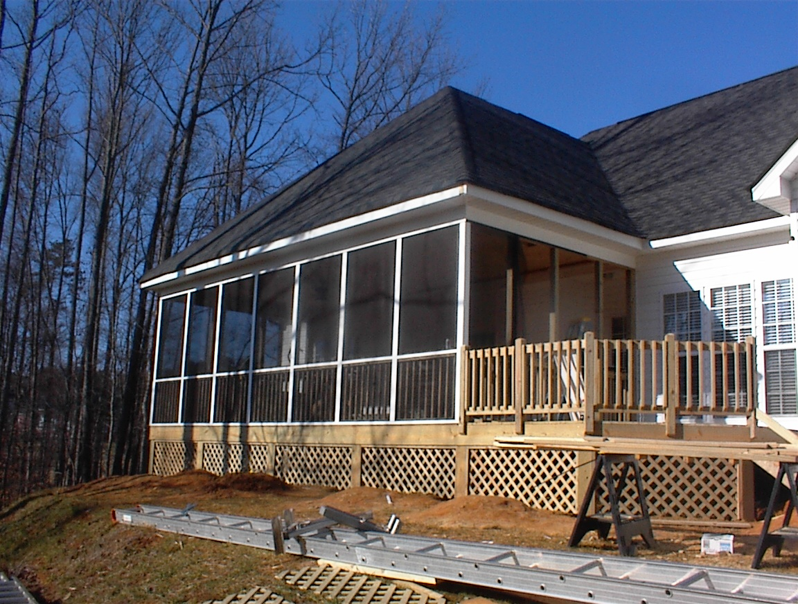 charlotte nc screen porch with hip roof huntersville