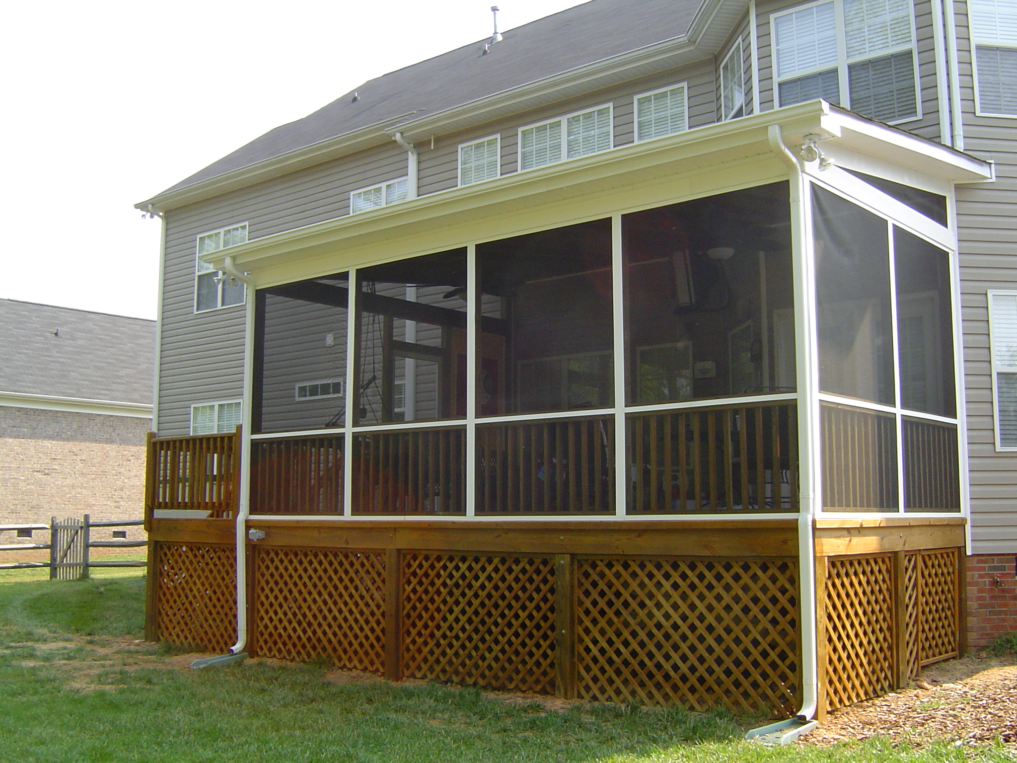 Download lattice screen porch plans free for Screen porch blueprints