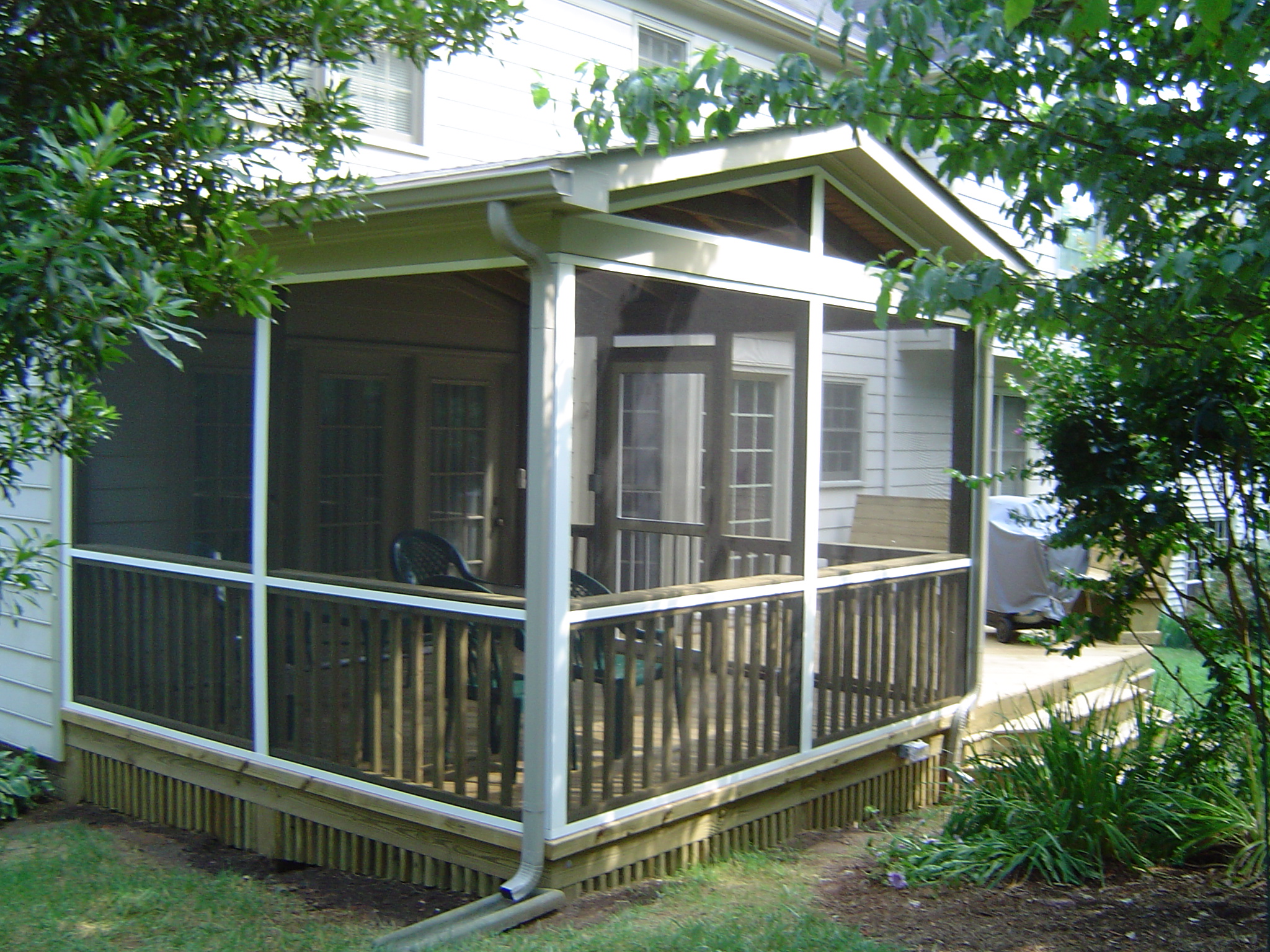 Charlotte nc designers choice com screen porches screen for Screened in porch ideas design