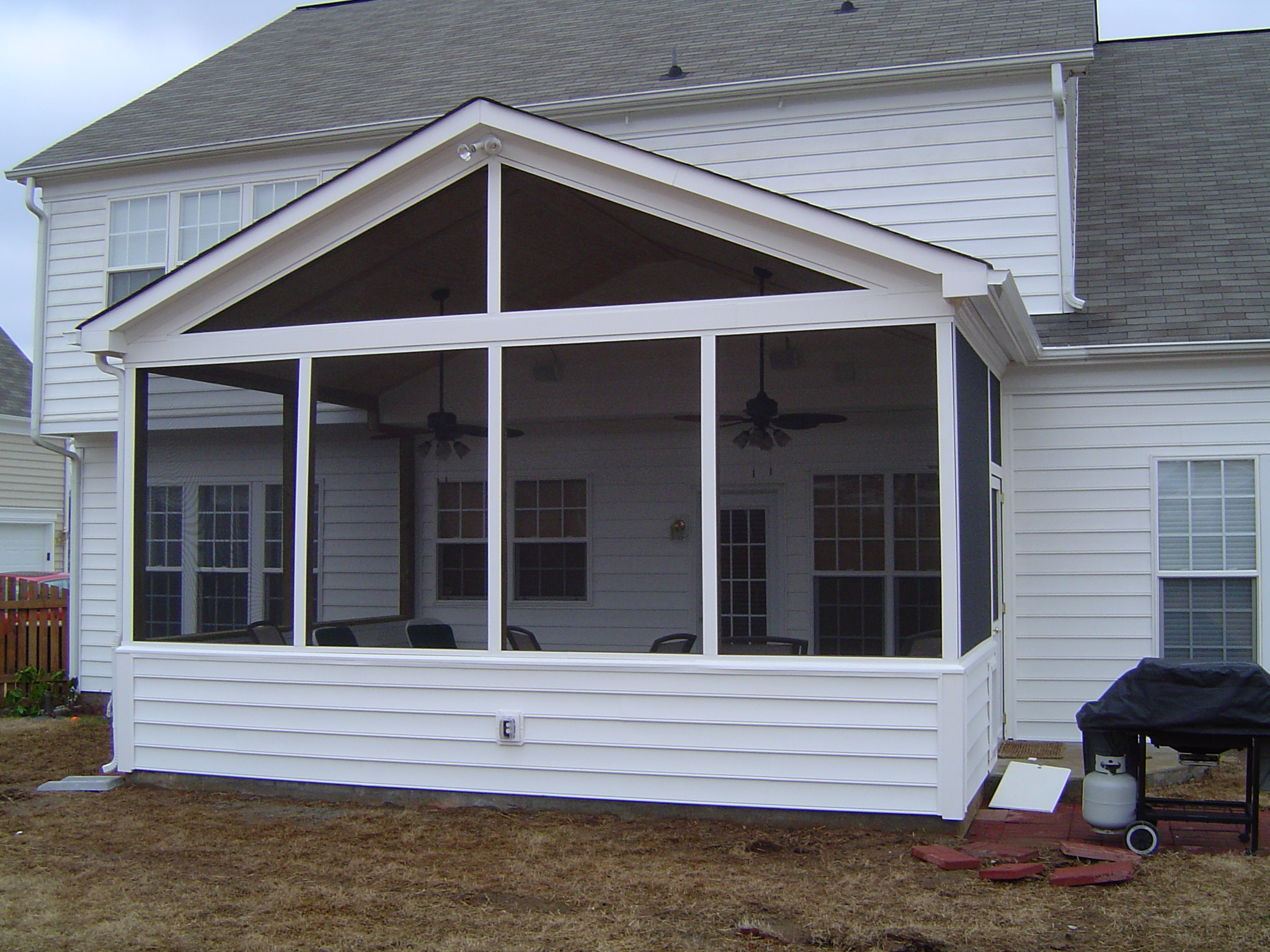 Weddington nc screen porch builder for Balcony screen