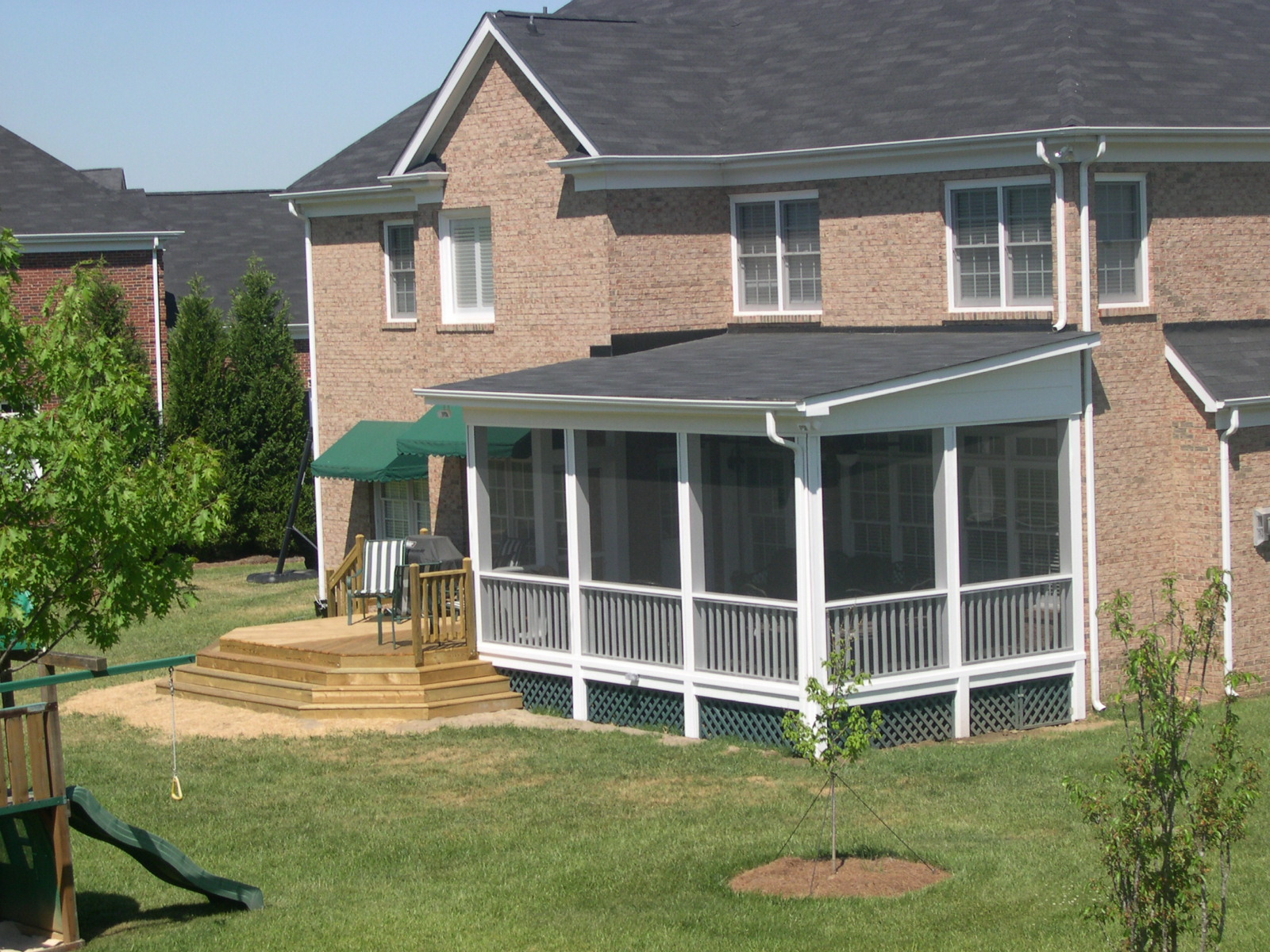 charlotte huntersville screen porch sunroom room ForShed Roof Porch Designs