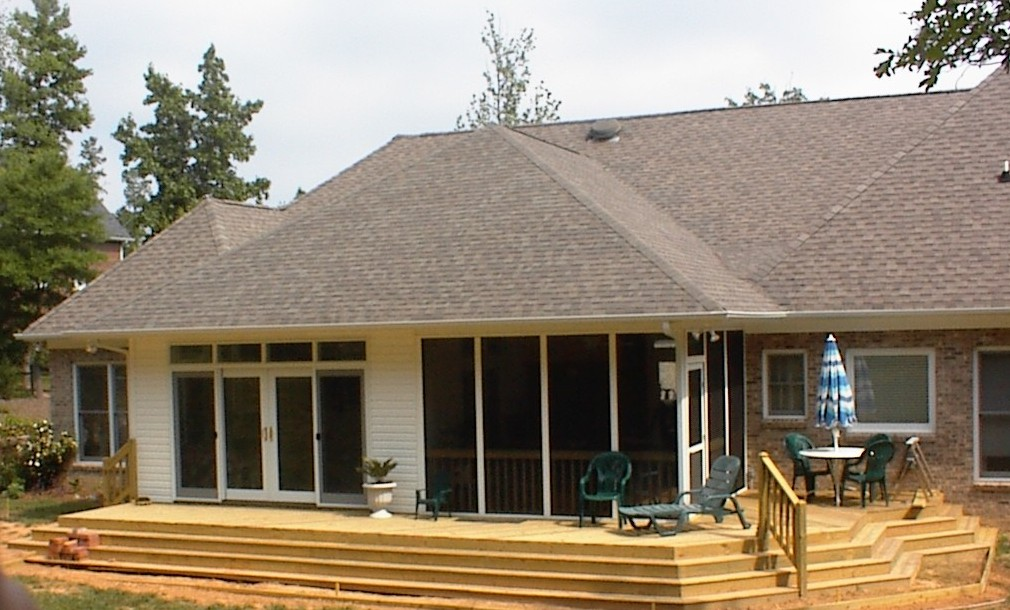 Matthews nc room addition builder for Screen room addition plans